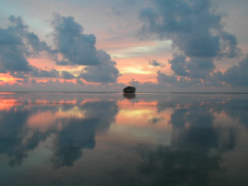 Sunset in Palau Island (Micronesia)