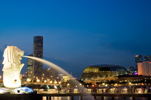 Merlion Park Singapore | Merlion Park at night | Flickr