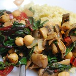 Hot Chard Salad (vegan)
