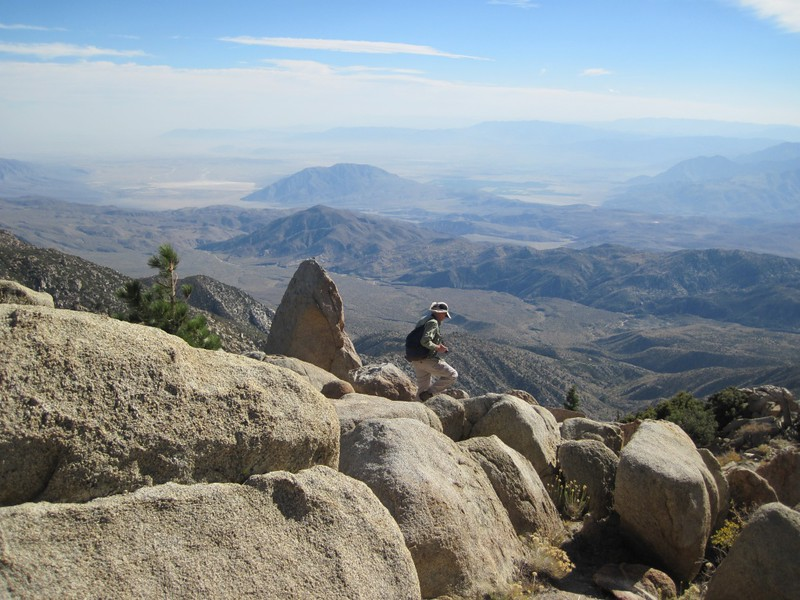 Borrego Springs in the distance, left of center