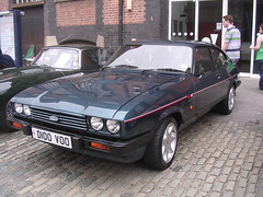 race car, automobile, vehicle, performance car, compact car, ford capri, ford, sedan, land vehicle, coupã©, sports car,