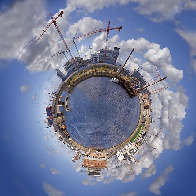 Dublin docklands planetoid