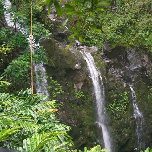 Waikani Falls along the Hana Hwy on East Maui.