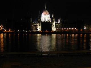 Parliament building (Országház) by night