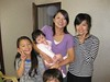 Allie with Aunt Emiko and Cousins Miwa and Miku