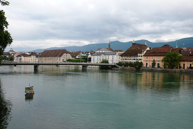 View over the River Aar towards Solothurn