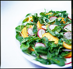 Radish and Peach Salad