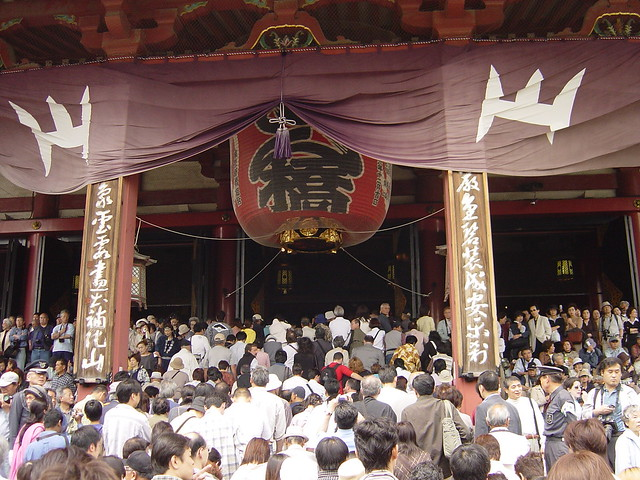 Asakusa temple crowd