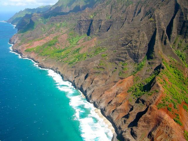 Acantilados en el parque estatal de la costa de Na Pali, Isla de Kauai