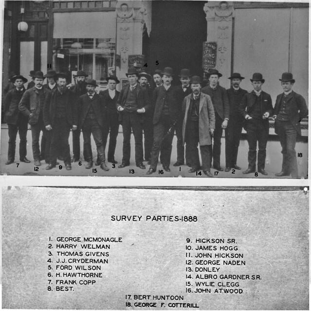 Survey parties, 1888
