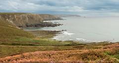 Paisaje desde el Cap de la Chevre, en la Bretaña francesa. French Bretagne landscape.