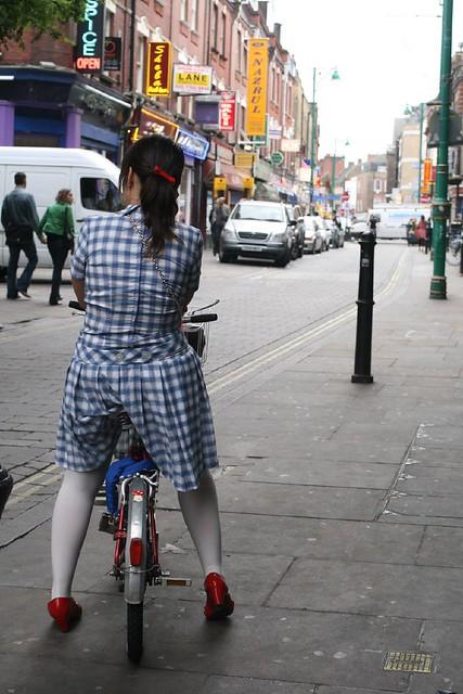 Funky lady on Brick Lane