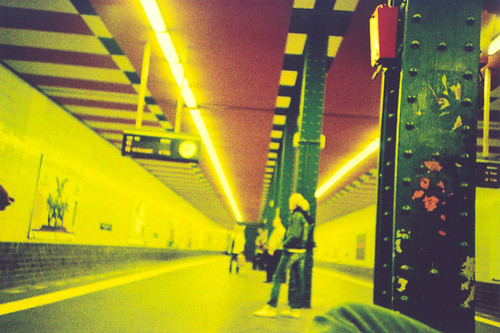 Berlin Underground Station, extreme yellow