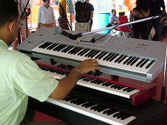 yamaha sy77(0.0), electric piano(0.0), player piano(0.0), string instrument(0.0), synthesizer(1.0), keyboard player(1.0), electronic device(1.0), nord electro(1.0), musician(1.0), piano(1.0), musical keyboard(1.0), keyboard(1.0), electronic keyboard(1.0), music workstation(1.0), digital piano(1.0), electronic instrument(1.0),