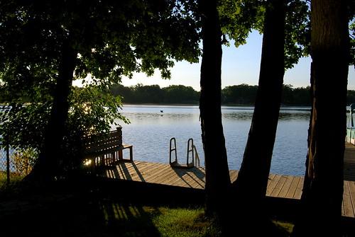 trees summer sunrise dock cabin nikon indiana lowell nikond40x d40x btsubmit