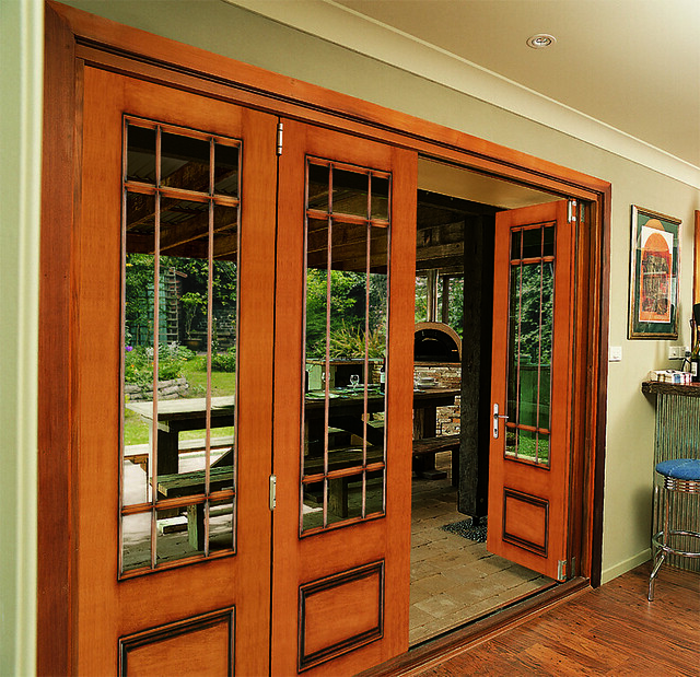 back patio with jeld wen custom folding doors flickr