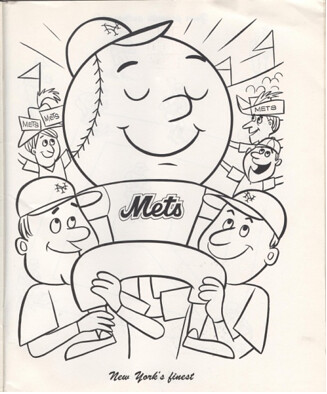 Old mr met coloring book 213 miles from shea for Mets coloring pages