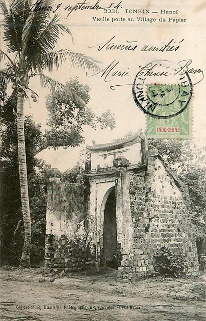 TONKIN - Hanoi - Vieille porte au Village du Papier
