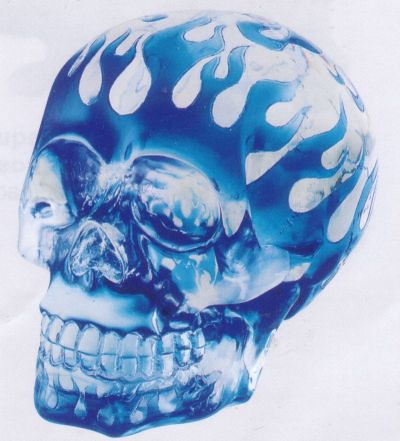 blue flames skull flame - photo #17