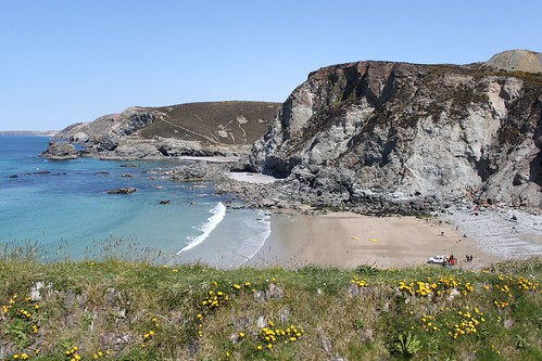 St.Agnes Beach, looking toward Chapel Porth by Claire Stocker (Stocker Images)