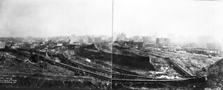 Second Denny Regrade looking south from Sixth and Battery, 1929