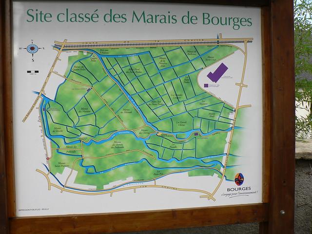 Les  Marais de Bourges: ne vous perdez plus...
