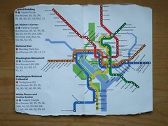 The subway map I kept in my pocket