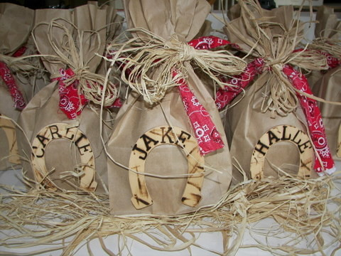 Craft Ideas Party Favors on Cowboy Party Favors Favors For The Cowboy Party Are Bagged And Ready