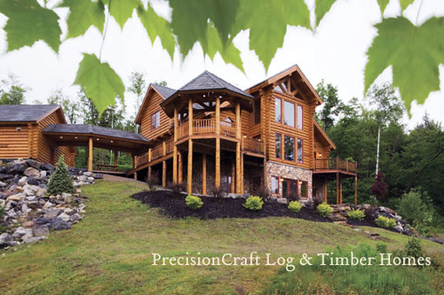 Milled Log Home in Maine | McKinley Log Home Floor Plan by PrecisionCraft