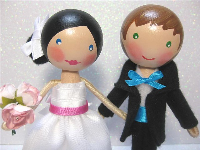 Callie Aiden Custom Wedding Cake Topper Close Up