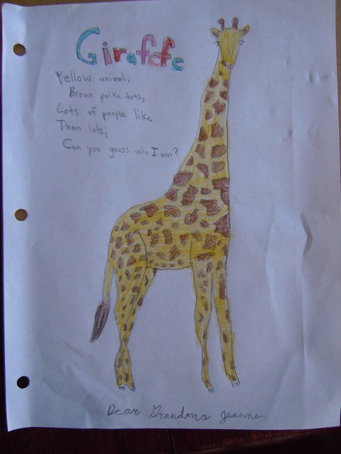 Giraffe Poem http://www.flickr.com/photos/55258748@N08/5120500040/
