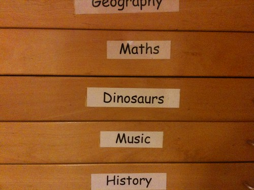 Geography, Maths, Dinosaurs, Music, History