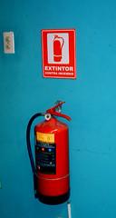 machine(0.0), lighting(0.0), fire extinguisher(1.0),