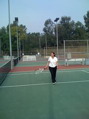 Anna at tennis