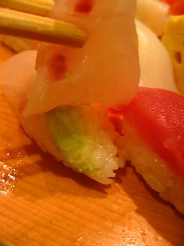 Checking the wasabi