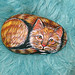 Painted rock Cat by Sania555