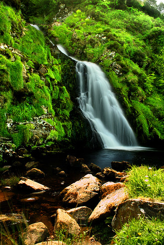 Waterfall in Donegal, Ireland