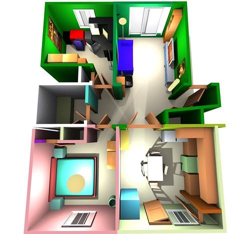 plan de mon prochain appartement. Black Bedroom Furniture Sets. Home Design Ideas