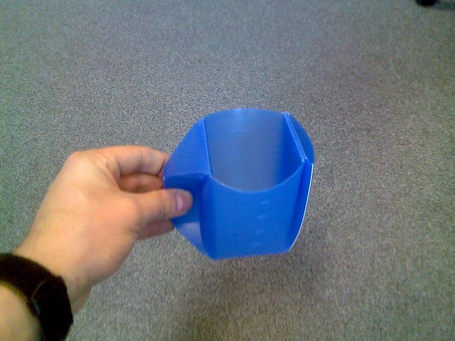 Orikaso mug - folded and ready to use