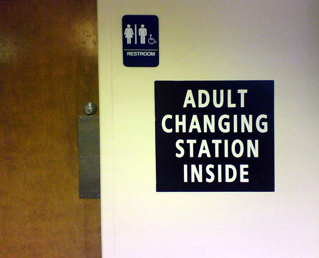 adult diaper station