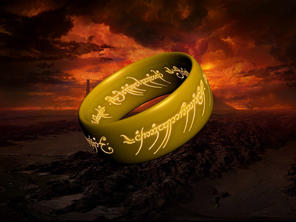 The One Ring Wallpaper 1 A 3d Model My Brother And I Creat