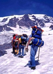 Climbing Rainier in 1981...I believe.