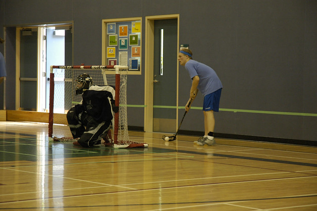 Surveying the Court at the 1st Annual BC Floorball Federation Challenge