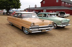 1956 Lincoln Premiere and 1953 Ford