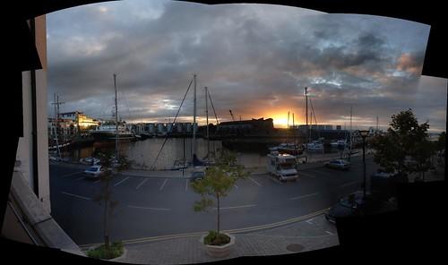 galway docks sunrise