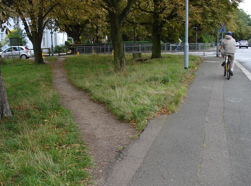 Desire path and desire cycle path