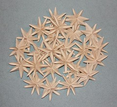 Origami star flowers Paper Snowflake 6 Photos 059