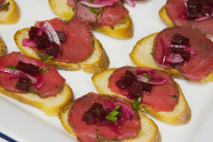 hors d'oeuvre, meat, salt-cured meat, prosciutto, food, dish, cuisine,