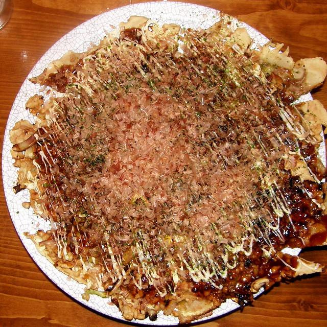 5748 Japanese pizza, okonomiyaki | It took an hour, but was ...