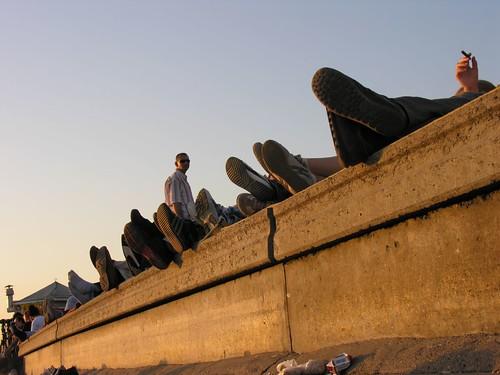 Romantikus-szotyolázós-teázós-vizipipázós part Üsküdar-ban